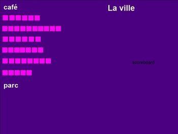 Réaction en chaîne Ville, Maison, Rue Chain Reaction Game for Smartboard