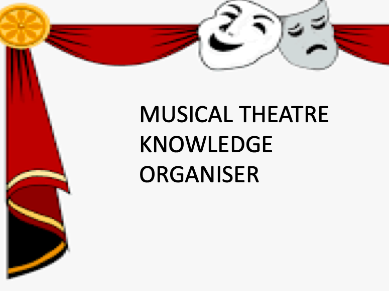 Musical Theatre Knowledge Organiser