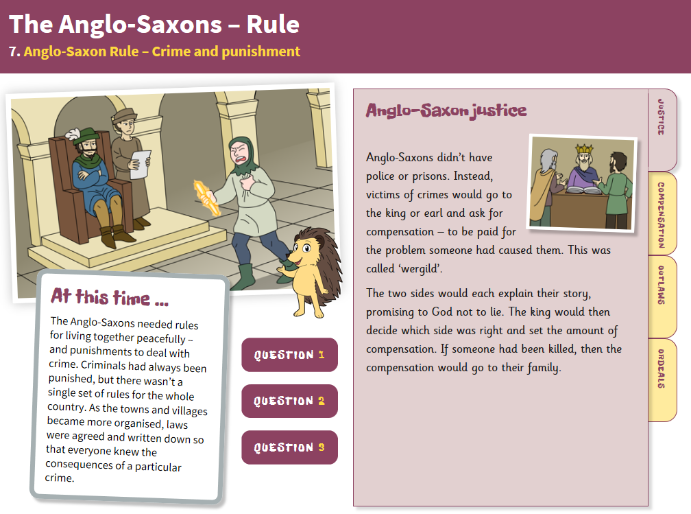 Crime and Punishment - Interactive Teaching Book - Anglo-Saxon Britain KS2