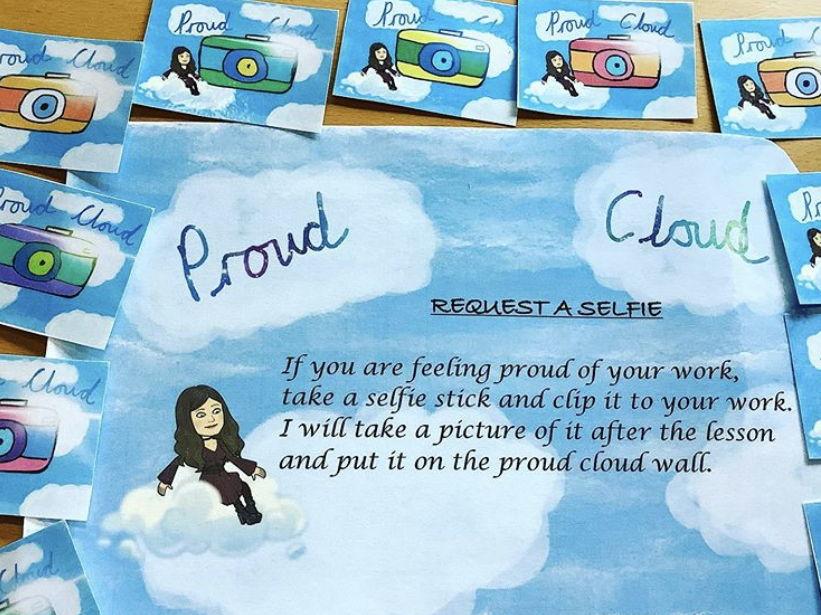 Proud Cloud selfie  display