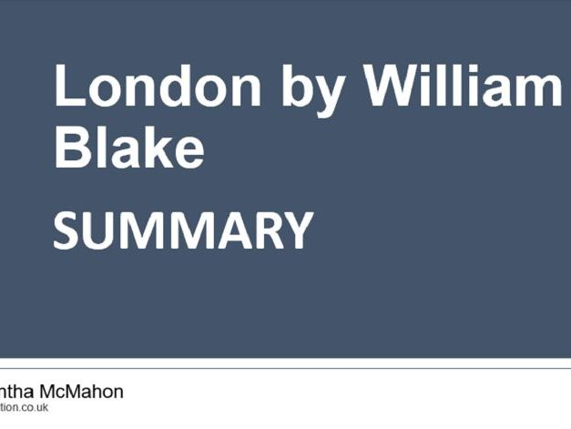 Quick GCSE Poetry Revision:  London by William Blake