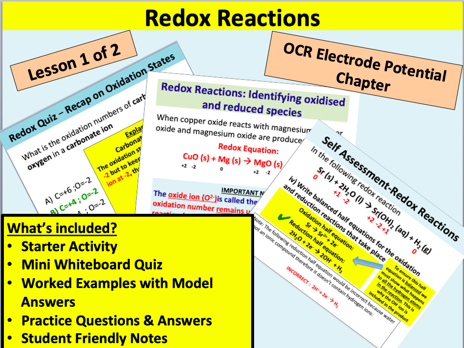 OCR Redox Reactions (part 1)