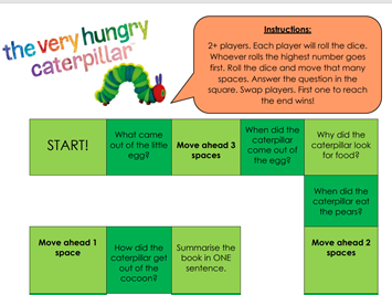 The Very Hungry Caterpillar - Comprehension Board Game