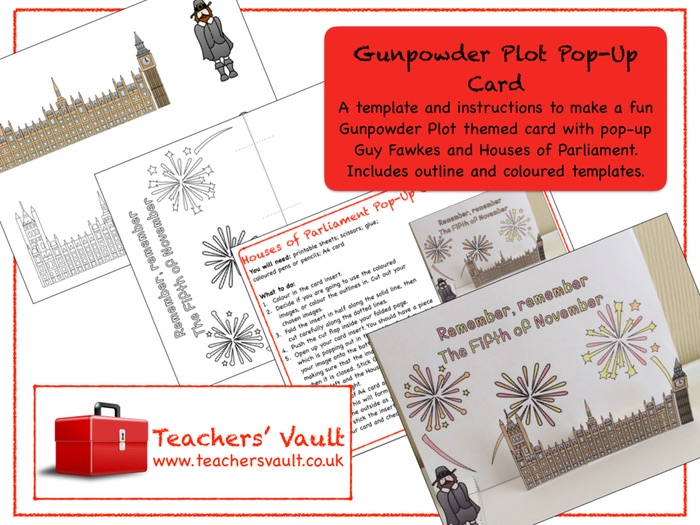 Gunpowder Plot Pop-Up Card