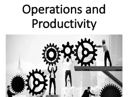 Operations and Productivity (Operation Management)