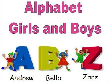 Alphabet Girls and Boys