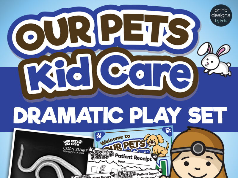 Dramatic Play Veterinarian Office - Vet - Preschool and Kindergarten