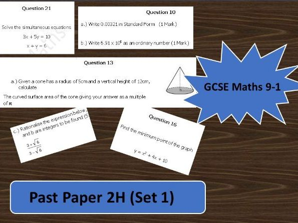 GCSE Maths 9-1 Practise Paper 2H