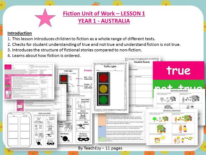 LESSON 1 introduction - Fiction Year 1 Australian Curriculum