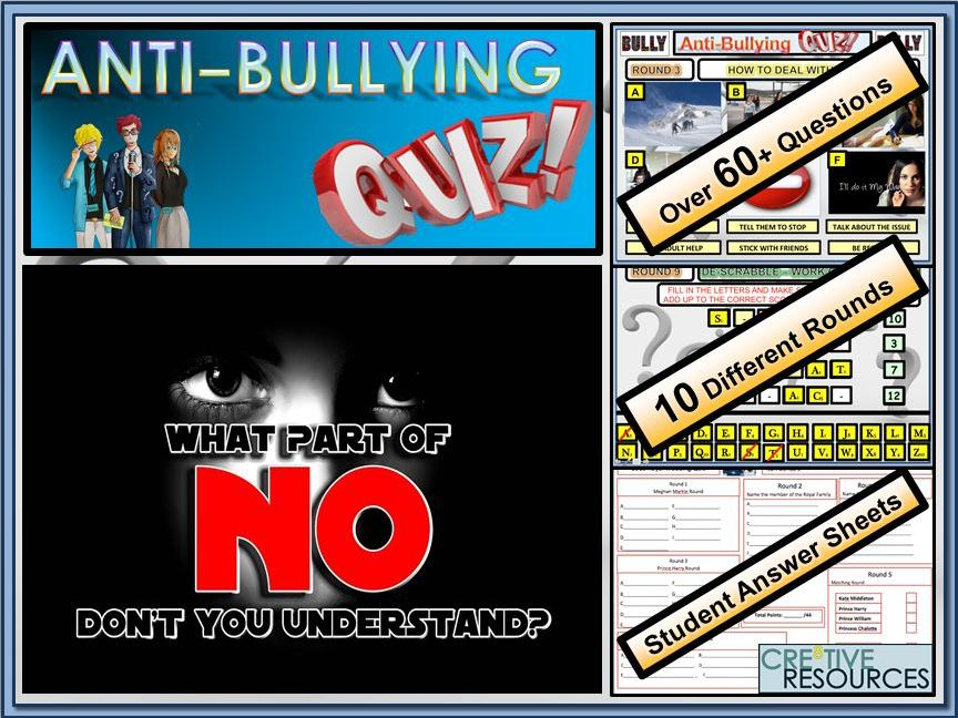 PSHE Anti - Bullying Quiz Lesson