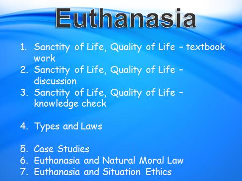 OCR H573 2016 Euthanasia