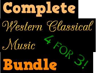 Western Classical Music Bundle  (Baroque - 20th Century)