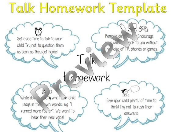 Talk Homework - Editable Template