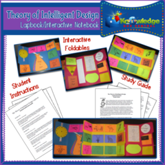 Theory of Intelligent Design Lapbook  - 63 pages