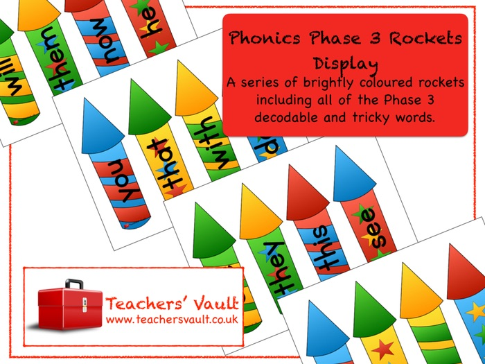 Phonics Phase 3 Rockets Display