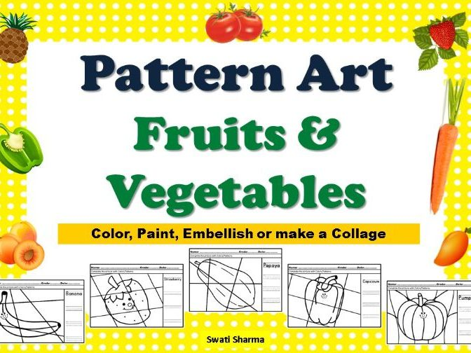 Pop Art/Pattern Art Fruits and Vegetables