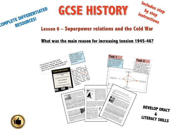 Edexcel Superpower Relations & Cold War L6 What was the main reason for increasing tension, 1945-46?