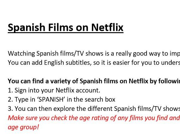 Spanish Films on Netflix