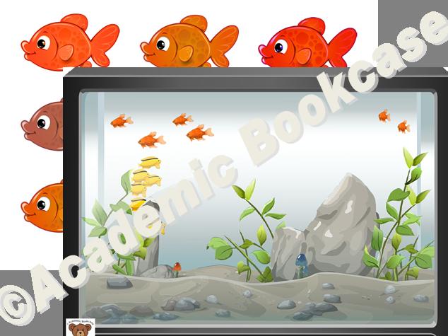 Reward counting chart - fish tank and fish