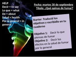 Spanish - Smoking and bad habits - Fumar es peligroso