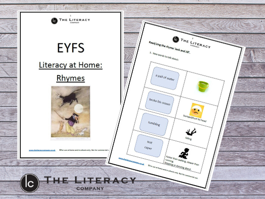 EYFS - Literacy learning from home: Rhymes