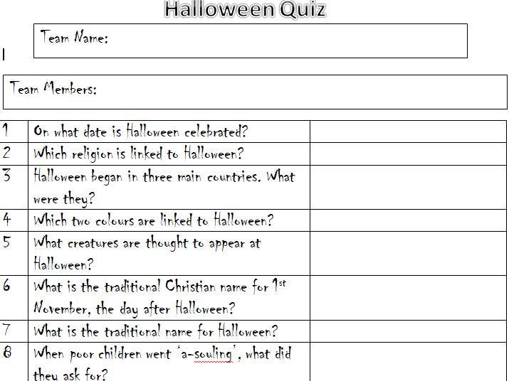 KS1/2 Halloween Quiz