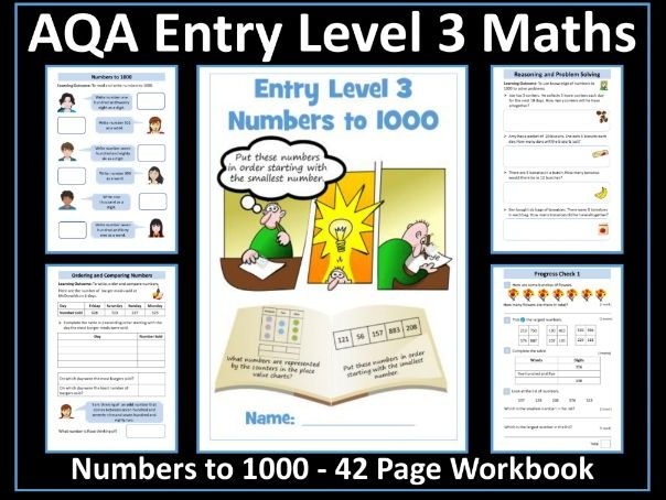 AQA Entry Level 3 Maths: Numbers to 1000