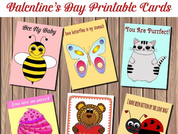 Valentine's Day Printable Cards