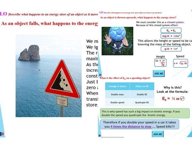 GCSE Physics: Energy - Ep and Ek Stores