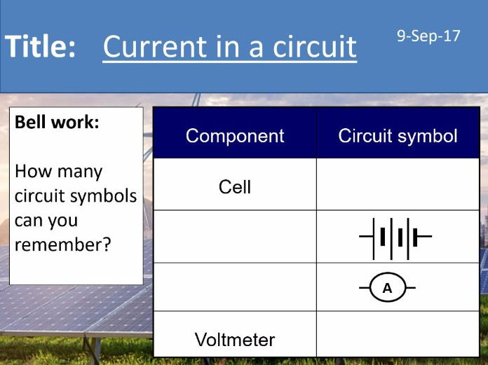 AQA New GCSE Electricity - Lesson 2 - Current in series and parallel