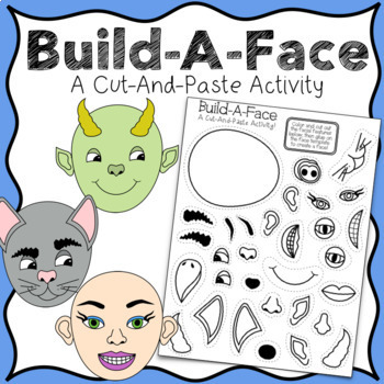 graphic relating to Build a Face Printable referred to as Lower Paste Establish-A-Facial area Artistic Composing Sport Identity Recommended