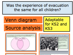 *FULL LESSON* Was the experience of evacuation the same for all children? Adaptable for KS2 and KS3