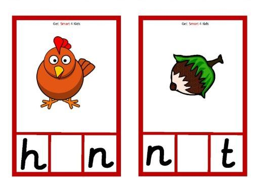 Mixed Medial Vowel Spelling Cards