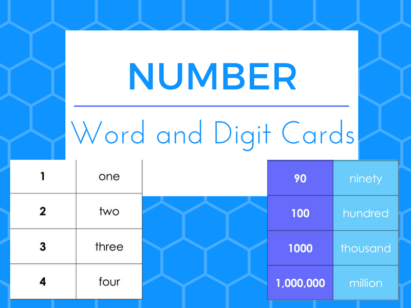 Number Words and Digits Cards for Pairs/Pelmonism/Matching/Ordering - ESOL/EAL/ESOL/EFL/Literacy/SLD