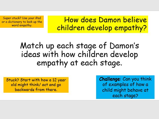 Edexcel Psychology (9-1) GCSE New Spec Unit 2 Lesson 12 - Damon & Morality