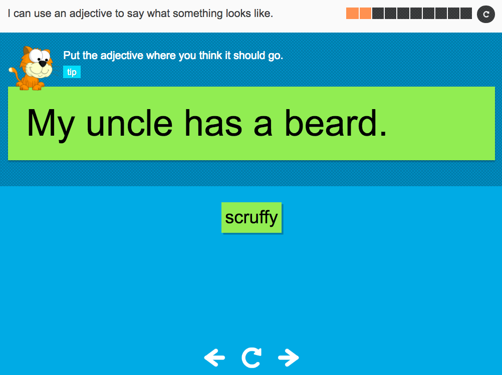 I can use an adjective to say what something looks like - Interactive Activity - Year 2 Spag