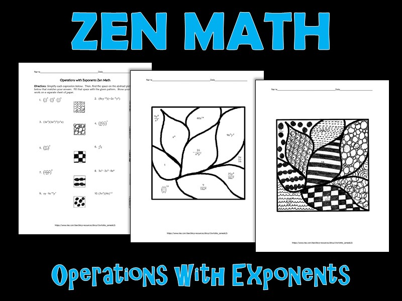 Operations with Exponents Zen Math