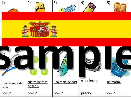 El cámping - ¿Qué va a llevar? - Spanish camping worksheet