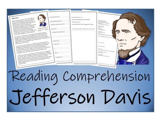 UKS2 History - Jefferson Davis Reading Comprehension Activity
