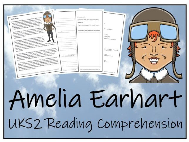 UKS2 Amelia Earhart Reading Comprehension Activity