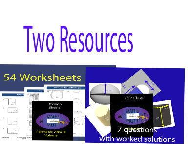 Revision Sheets:  Perimeter, Area & Volume