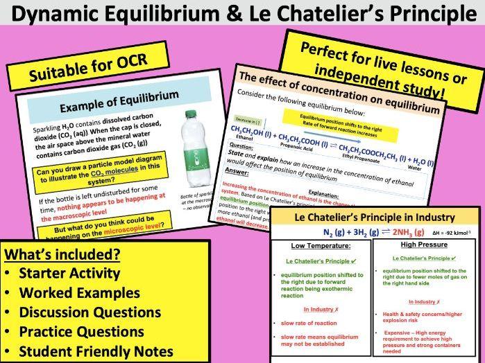 Le Chatelier's Principle & Equilibria