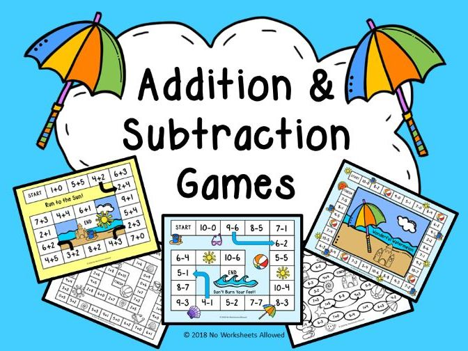 Addition & Subtraction Summer Games