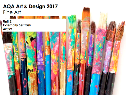 AQA GCSE Art & Design (Fine Art - 42022) Unit 2 Exam Paper 2017