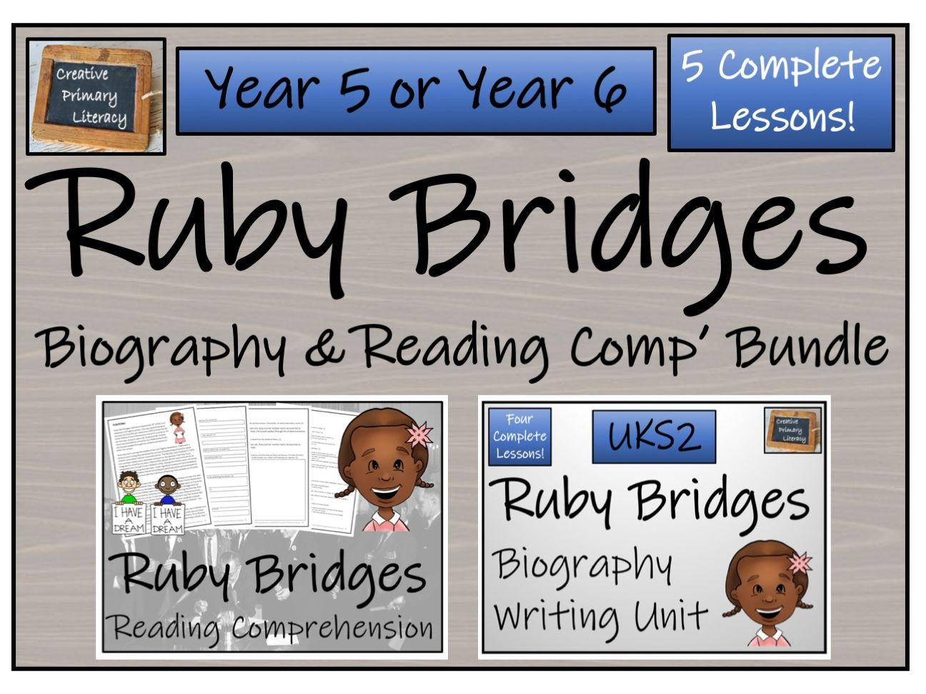 UKS2 History - Ruby Bridges Reading Comprehension & Biography Bundle