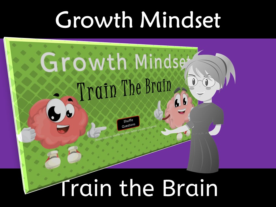 Growth Mindset Train the Brain Vocabulary Words Game