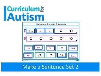 Autism Sentence Making Cards, Special Education, Speech Therapy, SEND, (Set 2)