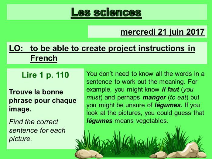 Les sciences - Studio 2 Vert Module 6 Unit 2