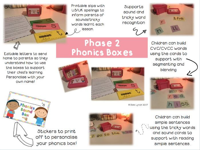 Phase 2 Phonics Sound Boxes