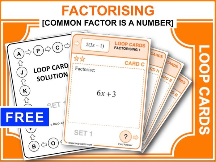Factorising 1 (Loop Cards)